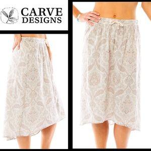 NWT Carve Designs Cameron Summer Skirt, Sz Med
